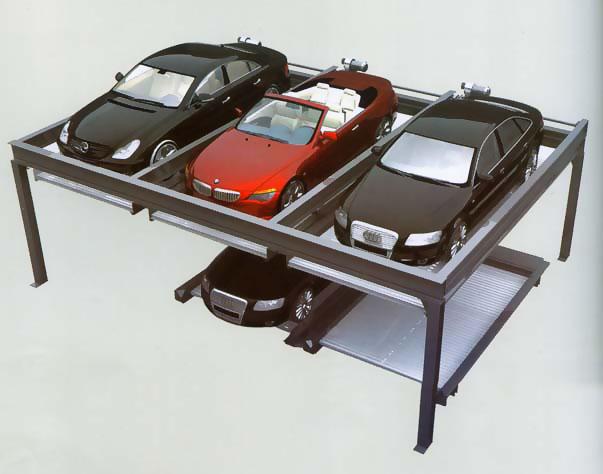 升降横移类地面二层停车设备