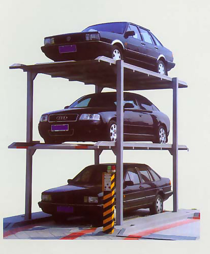简易升降类基坑三层停车设备