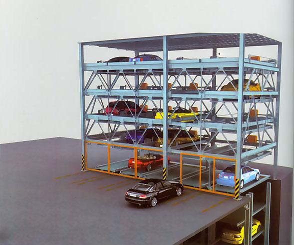 升降横移与简易升降组合式停车设备