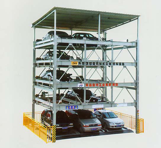 升降横移类地面五层停车设备