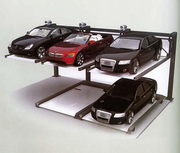 升降横移类后悬臂两层停车设备