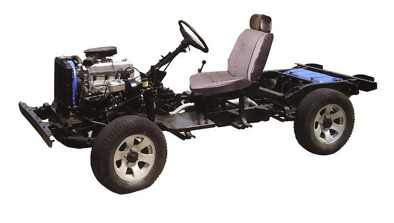 四驱汽车动力传递系统